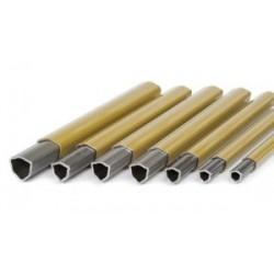 Barra tubo triangular 26,5x3,5 mm.