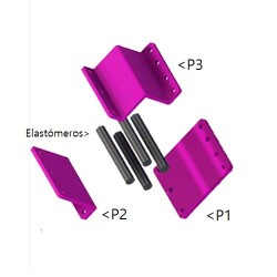 Elastómeros para conjunto mordaza amarre chisel